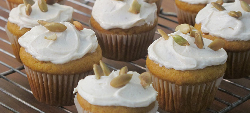 Mini Cupcakes de Calabaza - Doreen Colondres